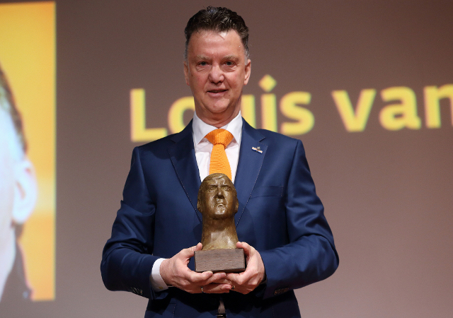 Manchester United manager Louis van Gaal has been awarded the Anton Geesink prize by the IJF ©IJF