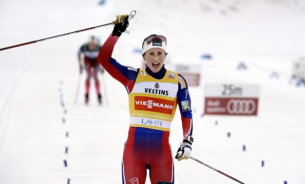 Marit Bjørgen claimed victory in the 10-kilometre classic in Lahti ©Getty Images