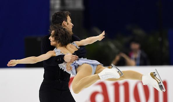 Canada's Meagan Duhamel and Eric Radford led at the end of the pairs short programme on the opening day of the World Figure Skating Championships in Shanghai ©AFP/Getty Images