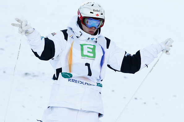 Mikaël Kingsbury's dual moguls win was his seventh straight Freestyle Skiing World Cup victory ©Getty Images
