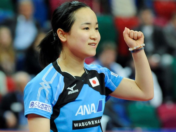 Mima Ito pulled off a shock German Open victory at the age of only 14 ©ITTF