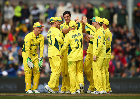 Mitchell Starc claimed four wickets as Australia convincingly beat Scotland ©Getty Images