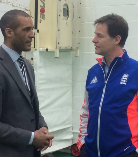 British Deputy Prime Minister Nick Clegg (right) has backed the new Charter, which is also being supporter by Premier League footballer Clarke Carlisle (left) ©Twitter