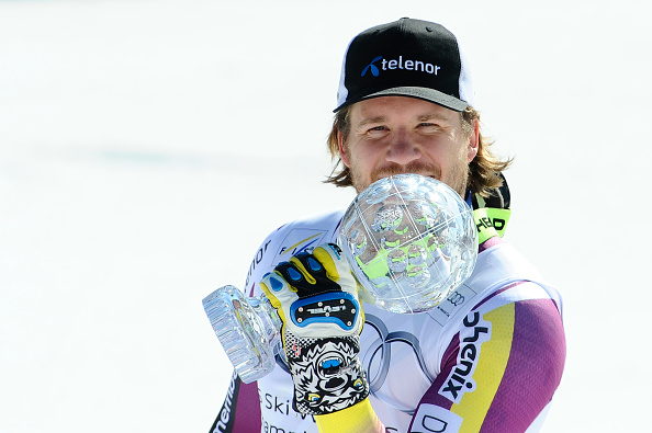Norway's Kjetil Jansrud collected the super-G crystal globe which he had already wrapped up ©Getty Images