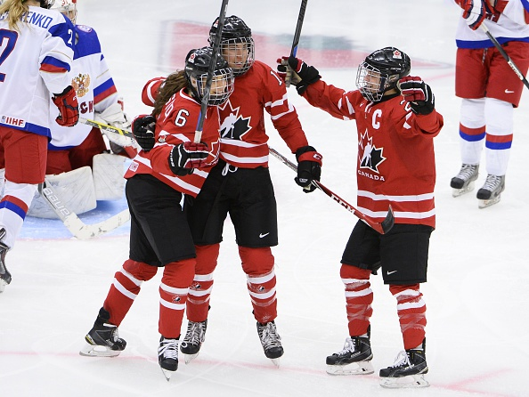 Olympic champions Canada returned to form with a comfortable 4-0 win over Russia ©Getty Images
