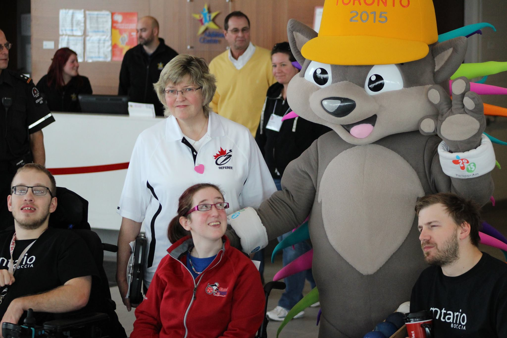 Pachi the porcupine paid a visit to the Canadian Boccia Championships ©Canadian Cerebral Palsy Sports Association/Facebook