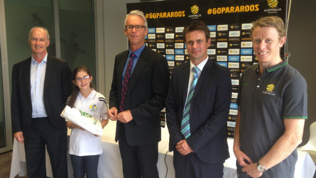 Claire Falls, a prominent figure in a campaign to get financial help for the Pararoos restored, was among those who attended an event where a new funding model was announced ©FFA