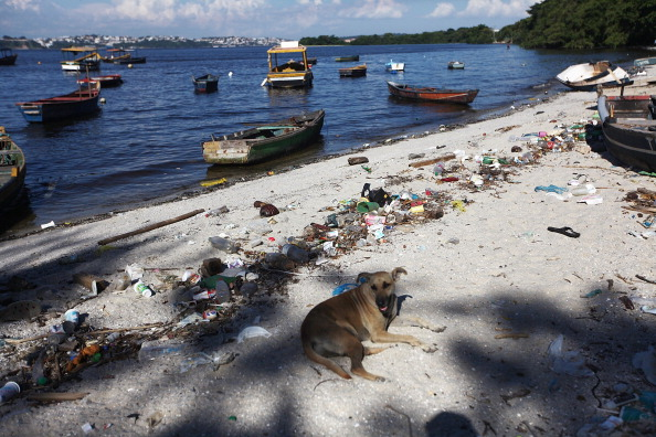 Physical debris in the water is a major concern ahead of the Games next year ©Getty Images