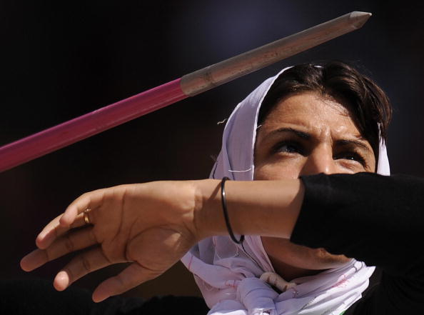 Reigning world champion Safia Djelal set a new javelin world record on the opening day of the IPC Athletics Grand Prix ©Getty Images