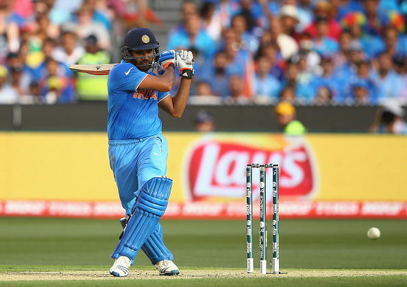Rohit Sharma's maiden World Cup century played a key part in India's win ©Getty Images