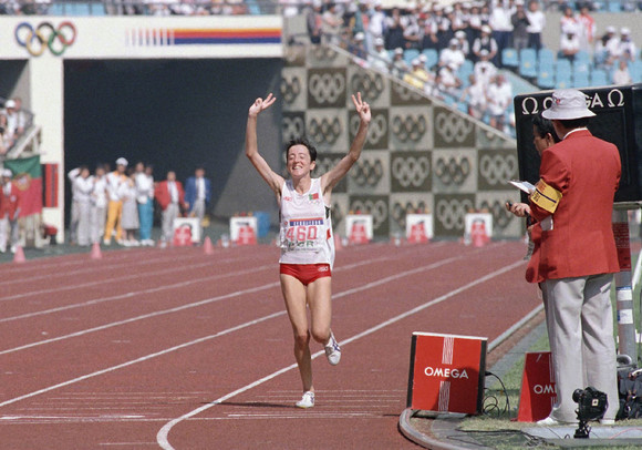 Rosa Mota became the first Portuguese female Olympic gold medallist when she won the marathon at Seoul in 1988, making her the first woman to win all the major titles in the event ©Getty Images