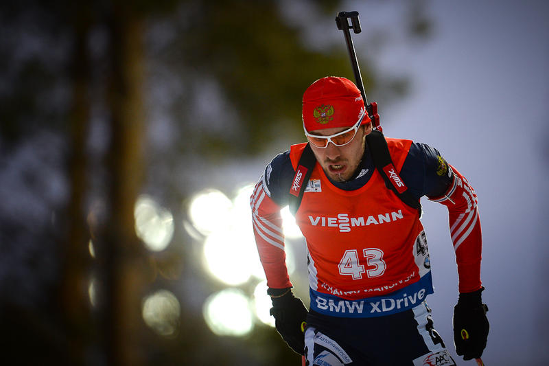 Russia's Anton Shipulin now faces a tough task if he is to overhaul Fourcade at the top of the leaderboard after he finished second on home snow ©IBU