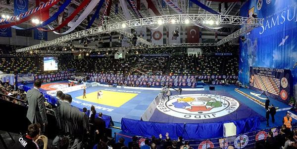 The Yasar Dogu Sports Arena provided a stunning venue for the Samsun Grand Prix ©IJF