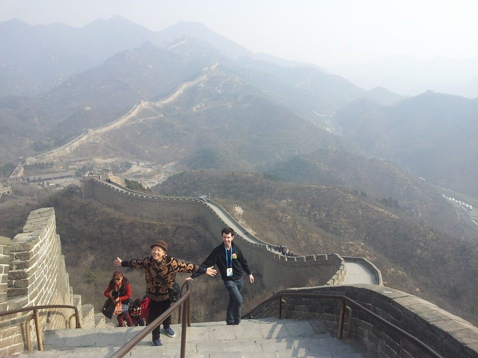 Seeing the Great Wall of China was exciting, but there was not much snow to be seen ©Beijing 2022