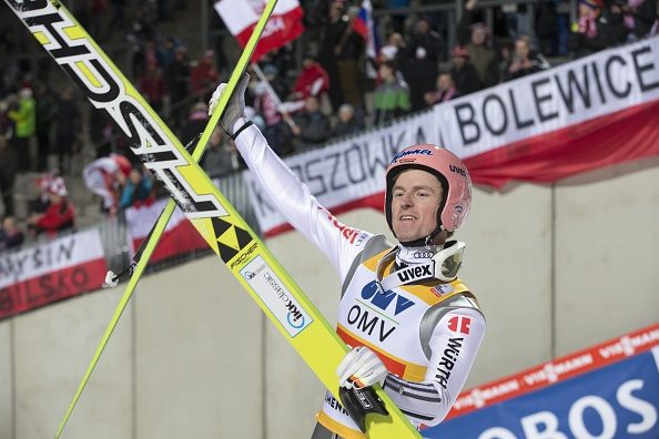 Severin Freund made it a hat-trick of Ski Jumping World Cup wins in Oslo ©Getty Images