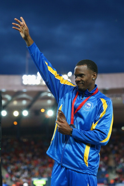 Shane Braithwaite won Barbados' only medal of the Glasgow 2014 Commonwealth Games, a 110m hurdles bronze, their first since Melbourne 2006 ©Getty Images