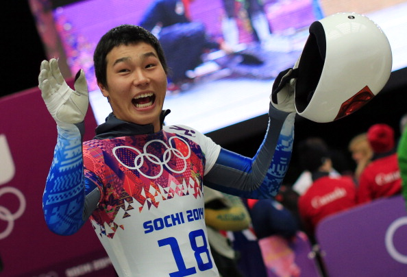 Skeleton racer Yun Sung-Bin, pictured competing at Sochi 2014, has been one vastly improved South Korean winter sports star ©AFP/Getty Images