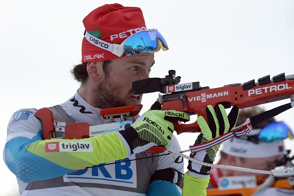 Slovenia's Jakov Fak came out on top in the men's 15km mass start event ©Getty Images