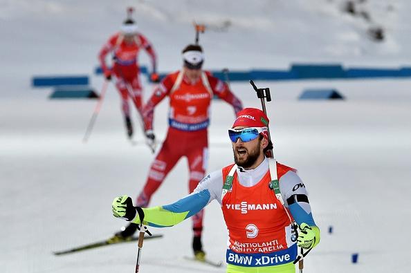 Slovenia's Jakov Fak took the men's 15km mass start event crown ©Getty Images