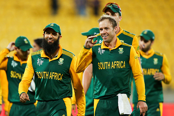 South Africa celebrate after their regulation victory over United Arab Emirates ©Getty Images