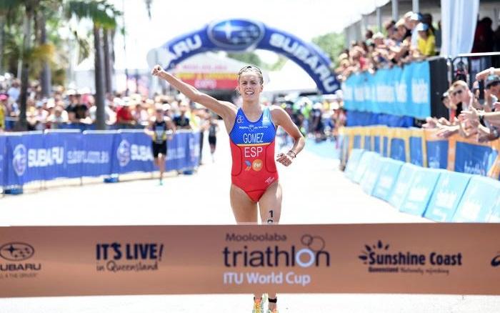 Spain's Tamara  Gomez Garrido claimed her first ever ITU World Cup win ©ITU