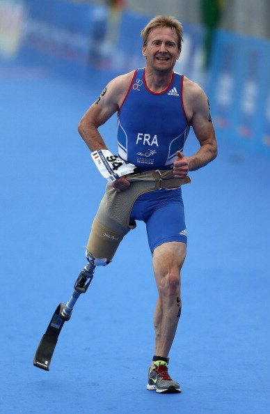 Stephane Bahier's success in the men's PT2 race at the opening ITU World Para-triathlon of the year in East London, South Africa, completed a French double  ©Getty Images