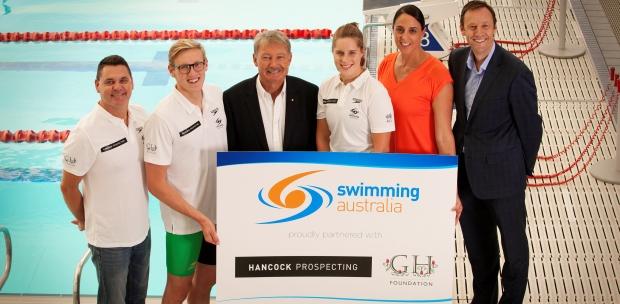 Swimming Australia has announced a two-year partnership with Hancock Prospecting ©Swimming Australia