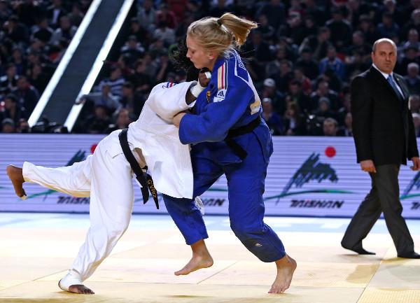 Szaundra Diedrich of Germany enforced her status as a hot prospect in the sport by winning the women's under-70kg category ©IJF