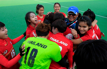 Thailand's women overcame the odds to beat higher-ranked Kazakhstan ©FIH/ADImages