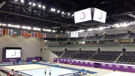 The Baku 2015 gymnastics test event is due to take place at the National Gymnastics Arena this week ©ITG