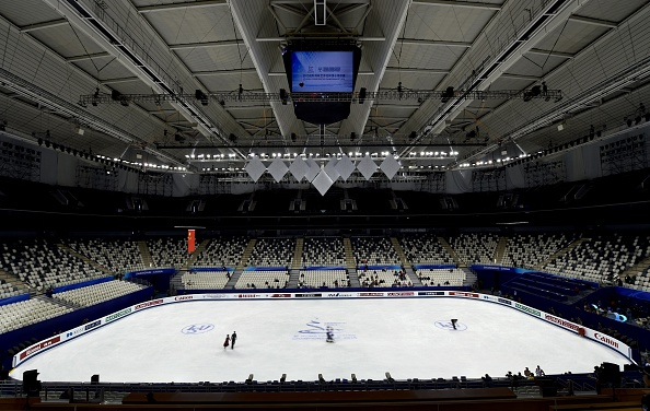 The Crown Indoor Stadium in Shanghai, China was the venue for the World Figure Skating Championships ©AFP/Getty Images