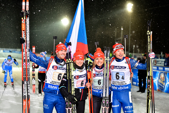 The Czech Republic have claimed gold in the mixed relay at the Biathlon World Championships in Kontiolahti ©Getty Images