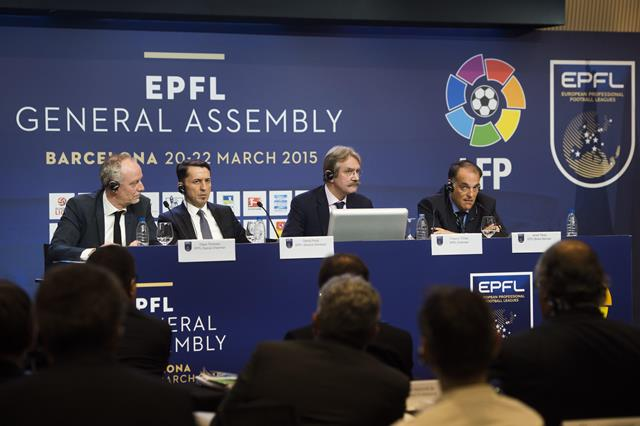 """The European Professional Football Leagues is """"very disappointed"""" with FIFA's decision to stage the 2022 World Cup in November and December ©EPFL"""