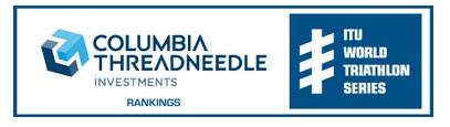 The ITU World Triathlon Series Rankings have been renamed as the Columbia Threadneedle Rankings ©ITU