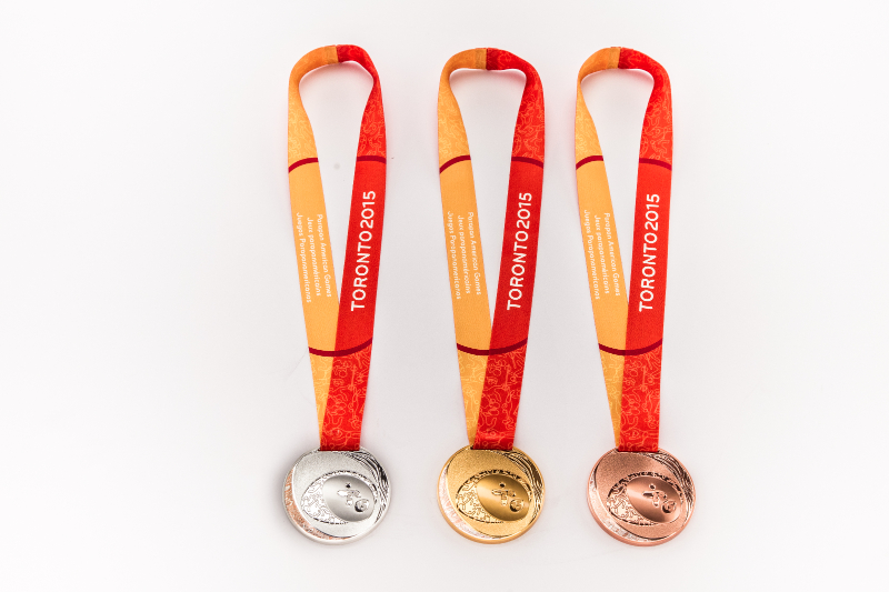 The Parapan Am Games medals were also unveiled at the ceremony ©Toronto 2015