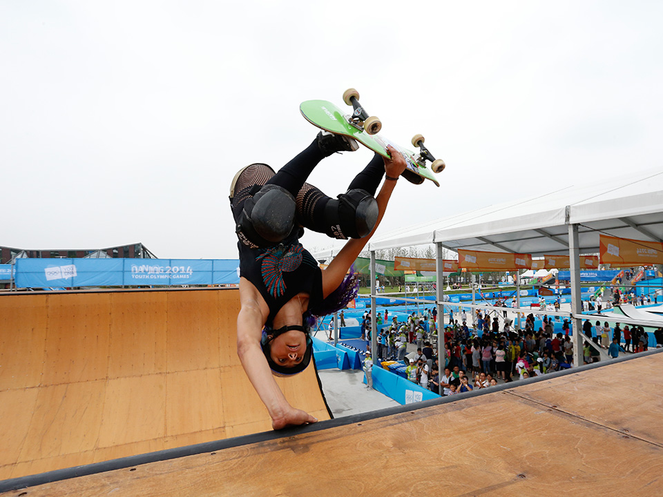 The Sports Lab in Nanjing during the Summer Youth Olympic Games, where skateboarding was seen as a big success ©IOC