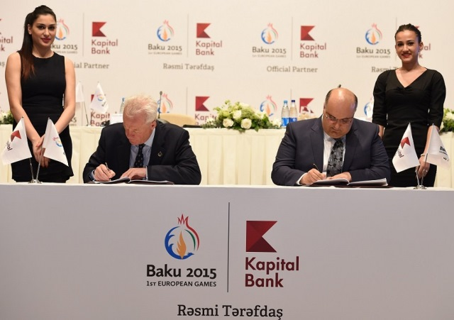 The agreement will see Kapital Bank provide and operate ATMs in each Games venue and foreign exchange machines in the Media and Athletes Village ©Baku 2015