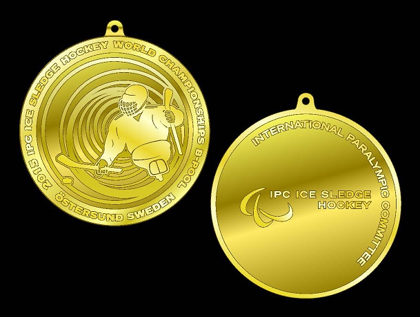The design of the Ice Sledge Hockey World Championship B-Pool medals has been unveiled ©IPC