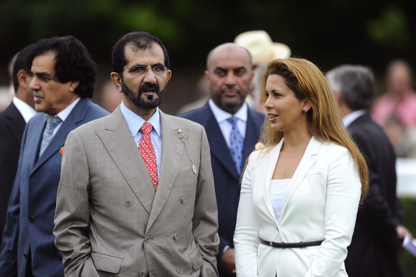 The husband of former FEI President Princess Haya Bint Al Hussein (right), Sheikh Mohammed bin Rashid Al Maktoum (left), served a six-month ban in 2009 ©Getty Images