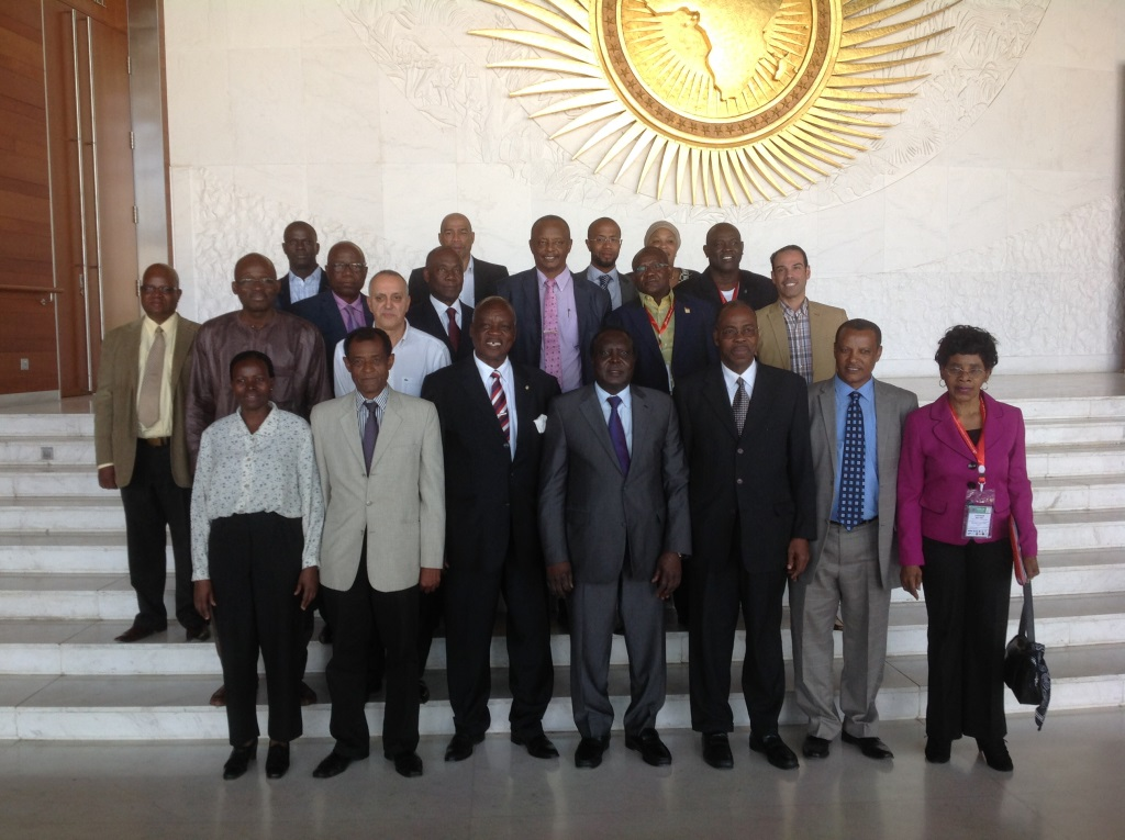 The new ruling Council of the Confederation of African Athletics pictured following the meeting in Addis Ababa ©CAA