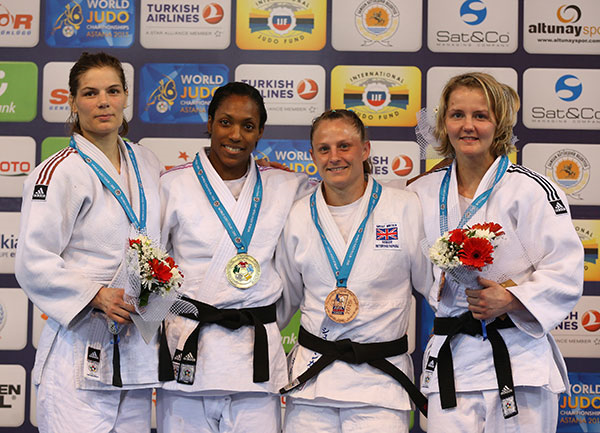 Top seed Anicka Van Emden won gold for The Netherlands in the women's under 63kg division ©IJF