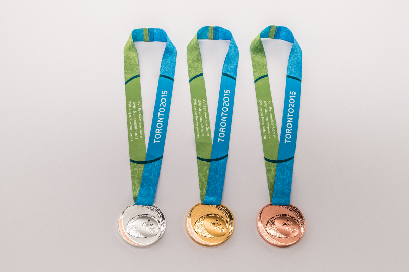 Toronto 2015 have unveiled medals for the Pan Am and Parapan Am Games ©Toronto 2015