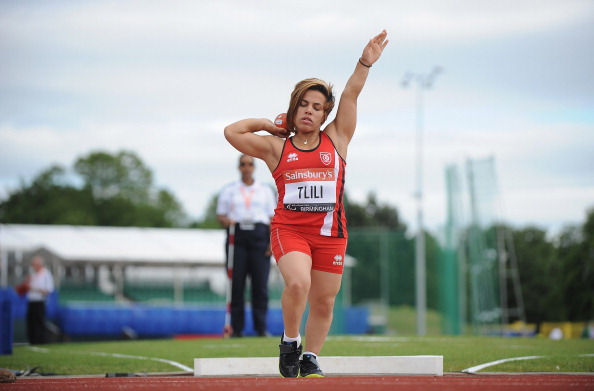 Tunisia's Raoua Tlili triumphed in her three chosen events at the season-opening IPC Athletics Grand Prix in Dubai ©Getty Images