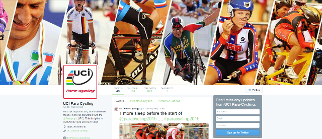 The UCI have launched a dedicated Twitter page for Para-cycling ©Twitter