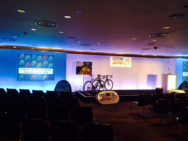 Wales was announced as host of the Grand Depart of this year's Tour of Britain at the launch at Wembley Stadium ©ITG