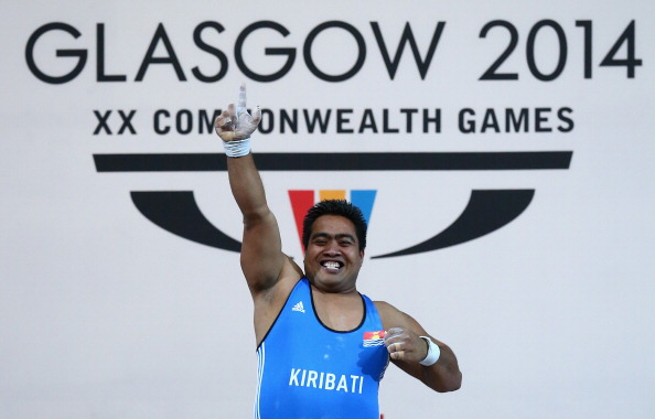 The victory of Kiribati weightlifter David Katoatau was one of the highlights of Glasgow 2014  ©Getty Images