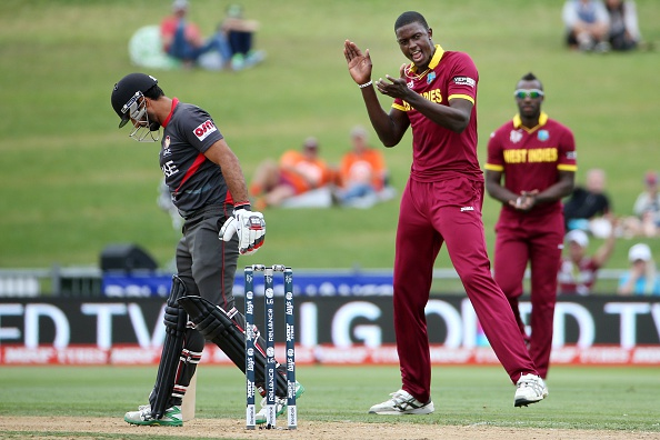 West Indies captain Jason Holder took four wickets as they beat the United Arab Emirates ©AFP/Getty Images