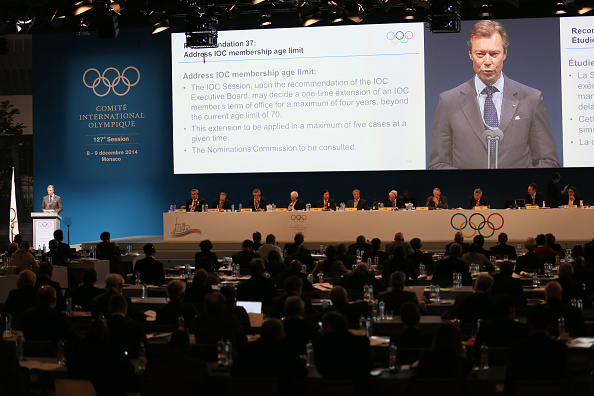 Henri, Grand Duke of Luxembourg, addresses members of the IOC during December's Session in Monaco at which President Bach's Olympic Agenda 2020 initiatives were voted upon ©Getty Images