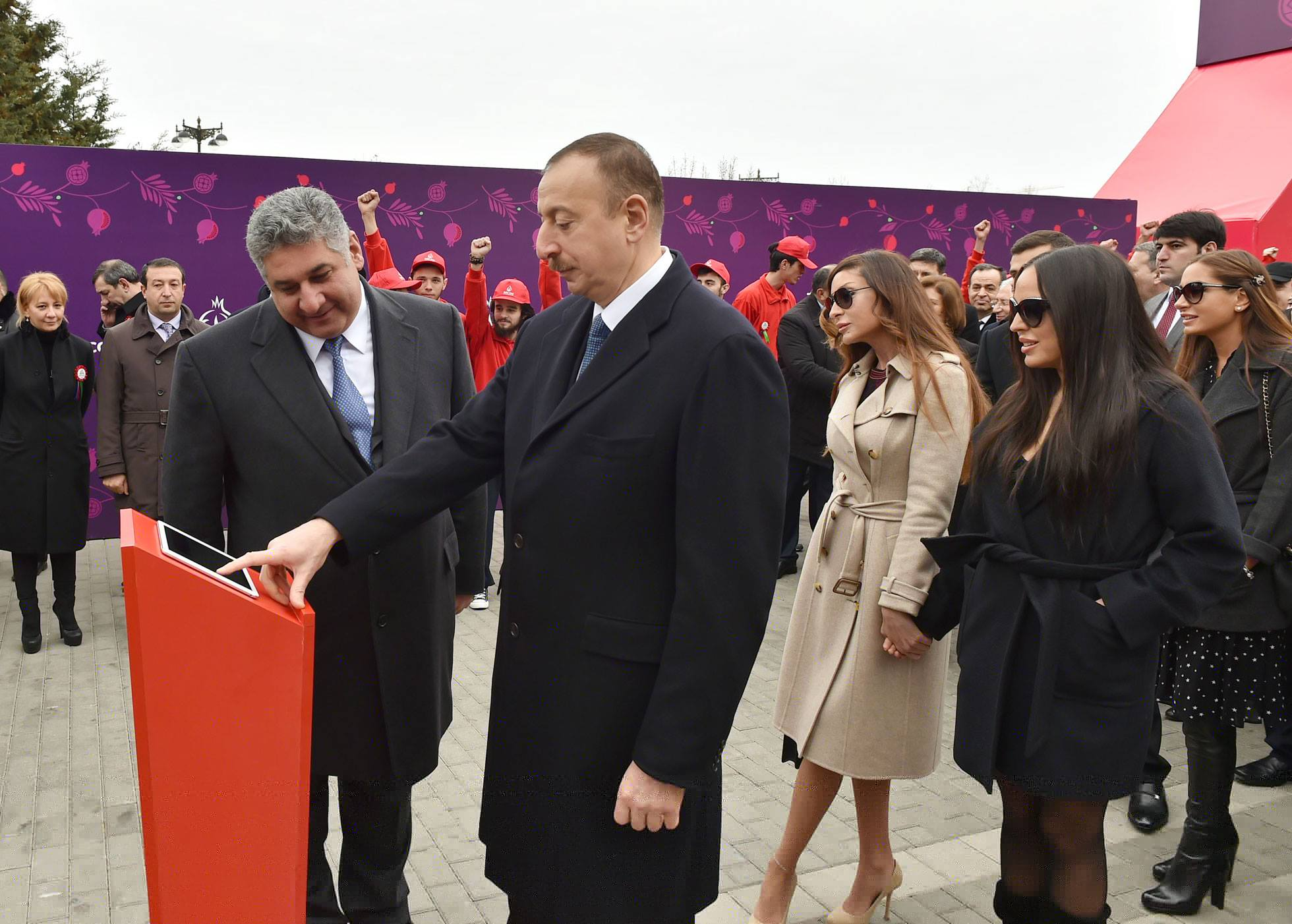 Azerbaijan President Ilham Aliyev took part in a ceremonial purchase of the first ticket for Baku 2015 during the Novruz celebrations ©Baku 2015