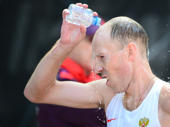 Following a positive doping test Sergey Kirdyapkin has now lost a world title, but retains others, including his Olympic gold ©AFP/Getty Images